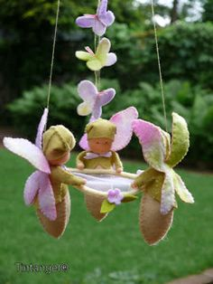 Mimin Dolls: Bebes Waldorf para decoração