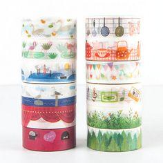 $2.2 - 15Mmx7M Collection Cartoon Animals Daily Scrapbook Decorative Washi Tape #ebay #Home & Garden