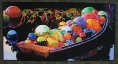 Chihuly's Gondola by Melissa Sobotka || Quilt Festivals and Antique Shows by Mancuso Show Management #Quiltfest #quilt #quilts #quilting #textiles #sewing #design #art