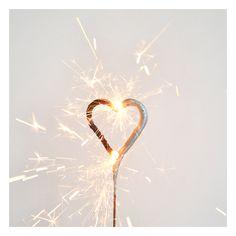 1 bougie étincelle : coeur argenté