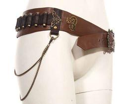 Women Brown Leather Bullet Steampunk Steam Punk Gothic Waist Belt Instead of bullets one lighter pouch Steampunk Belt, Steampunk Outfits, Steampunk Pirate, Style Steampunk, Steampunk Clothing, Steampunk Accessoires, Diy Accessoires, Steampunk Fashion Women, Gothic Fashion
