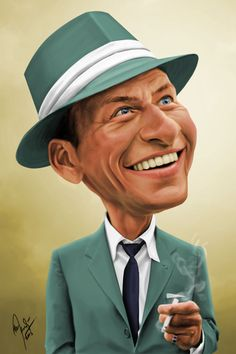 Frank Sinatra (Caricature) Dunway Enterprises - http://www.learn-to-draw.org/caricatures_clb.html?hop=dunway.       For more great pins go to @KaseyBelleFox