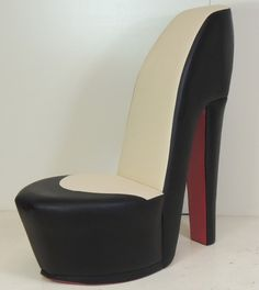 Red Heel Chair Cover And Sash Hire London 123 Best High Shoe Chairs Images Black Cream Stiletto With Sole