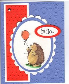 Image result for stampin up hedgehog happiness