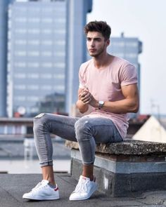 Casual Street Style Outfit For Young Man 29 Style Streetwear, Streetwear Fashion, Casual Outfits, Summer Outfits, Men Casual, Men's Outfits, Smart Casual, Men Street, Street Wear