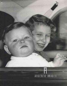 dukeandduchessofediburgh:  Princess Anne holding baby Prince Andrew