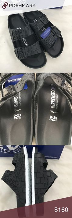 Birkenstock exquisite black sandals price is firm New in box US size 8 Birkenstock Shoes Sandals