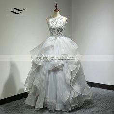 Custom Made Sexy Organza Top Royal Backless Ball Gown Wedding Dress Long Wedding Gown Bridal Gown Vestido De Noiva SL-W269 #WeddingDressesBallGown