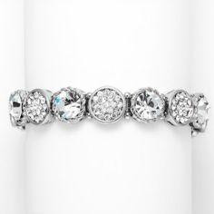 Designer Crystal Disks #Bridal Stretch #Bracelet <3 www.imagebridal.com <3