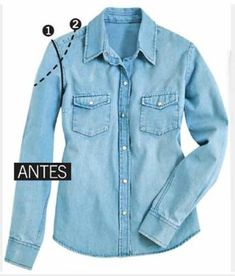 Best 12 Alternative Ansicht Lace Up Denim Dress SkillOfKing. Denim Shirt Outfit Summer, Denim Shirt Dress, Anthropologie Diy Clothes, Sewing Clothes, Diy Clothing, Cut Shirt Designs, Trash To Couture, Cut Sweatshirts, Old Shirts