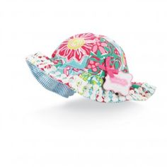 Mud Pie Baby Girls Lily Pad Reversible Sun Hat - Pink Baby Boutique