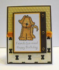 Dog Birthday Cards Friendship by hdawnparratt on Etsy, $4.00  So Cute! Love her work!
