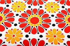 Retro floral textile Royalty Free Stock Photo