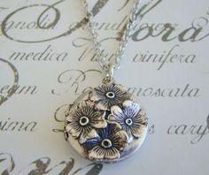 Small Silver Wedding Jewelry Locket Bride by BackstreetCreations