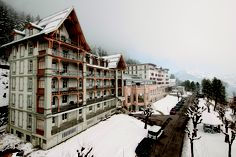 The gorgeous Belle Epoque during winter at Leysin American School