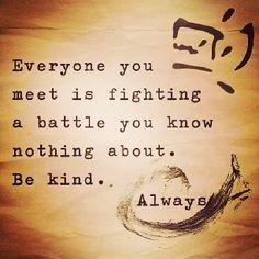 So true. You never know.