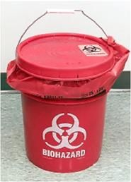 Garbage can for the Zombie bathroom