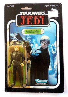 Vintage LUKE SKYWALKER Star Wars Return of the Jedi Knight