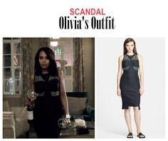 "On the Blog: Olivia Pope's (Kerry Washington) jacquard sheath dress | Scandal (Ep. 416) - ""It's Good to be Kink"" #tvstyle #tvfashion #TGIT #gladiators #fashion #outfits"