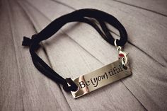 Inspirational Stamped Steel and Leather Bracelets – Modern and Chic Boutique