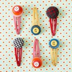 Botões para decorar fivelas de cabelo :)