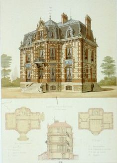 CHATOU IN DER ARCHITEKTUR: Chatou Association Notre Ville. Villa Croissy Avenue (wenn Sie ...  #Architektur #Association #Avenue #CHATOU #Croissy #der #Notre #Sie #Villa #Ville #wenn British Architecture, Architecture Drawings, Beautiful Architecture, Beautiful Buildings, Architecture Details, Building Plans, Building Design, Glam House, Vintage House Plans
