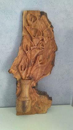 #TallaMadera #Florero #woodcarving #flower