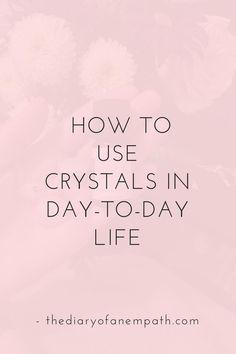 How I use crystals
