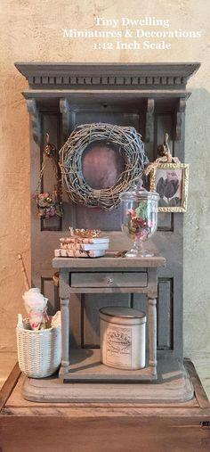 Miniatura francesa salón mesa francesa de casa de muñecas♡ ♡ By Tiny Dwelling