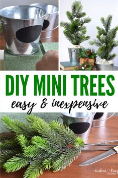 Check out this Christmas craft farmhouse home decor creation using supplies from the Dollar Store! It's simple and budget friendly. Flocked Christmas Trees, Dollar Tree Christmas, Mini Christmas Tree, Christmas Candy, Xmas, Dollar Tree Decor, Dollar Tree Crafts, Diy Crafts Dollar Store, Christmas Projects