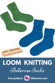 LOOM: Sock Loom 2 YARN: Approx 100 of worsted weight yarn. Knitting Loom Socks, Round Loom Knitting, Loom Knitting Stitches, Knifty Knitter, Loom Knitting Projects, Double Knitting, Knitting Machine, Yarn Projects, Knit Socks