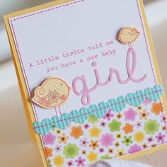 How sweet is this baby girl card