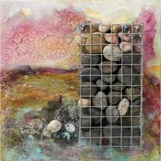 "Try this technique for including stones in you mixed-media art. Coming to you from the new book ""Alternative Art Surfaces"" by Darlene Olivia McElroy and Sandra Duran Wilson."