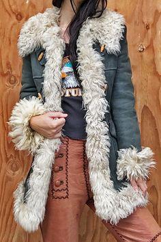 1970's Venus In Furs Turkish Shearling Penny Lane Dream Coat