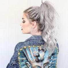 Hair Goals: silver blonde with a bit of roots showing - Samantha Ravndahl