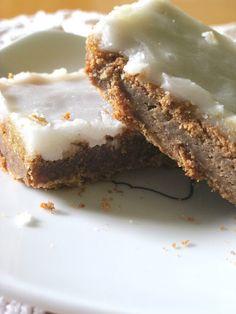 Cinnamon Roll Cookie Bars: 1 box yellow cake mix, 1/2 C melted butter, 2 eggs, 1/2 C packed brown sugar, 1/4 C sugar, 1 1/2 t cinnamon. 9x13 pan. Bake 350 25-30 min. Icing: 2 T milk, 2 C powdered sugar
