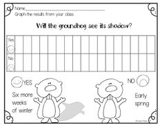 FEBRUARY IDEAS GROUNDHOG'S DAY! With the winter we've had, I hope that the little groundhog does not see his shadow so that I can ...