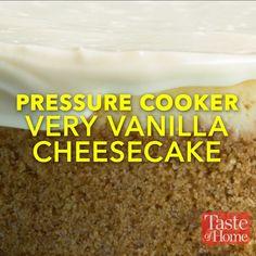 Pressure Cooker Very Vanilla Cheesecake Recipe