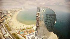 Barcelona W Hotel and beach