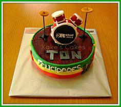 Tarta fondant de Batería // #tartas #fondant #cakes #reposteria #creativa #birthday #bateria #drums #music