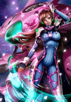 D.va by Laurart88.deviantart.com on @DeviantArt - More at https://pinterest.com/supergirlsart #dva #overwatch #fanart