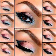 maquiagem passo a passo olhos esfumados - Pesquisa Google