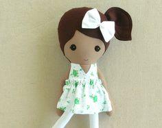 Tela muñeca trapo muñeca chica caliente leopardo por rovingovine