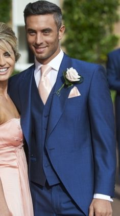 Our royal blue mohair tailcoat, Lydbury.