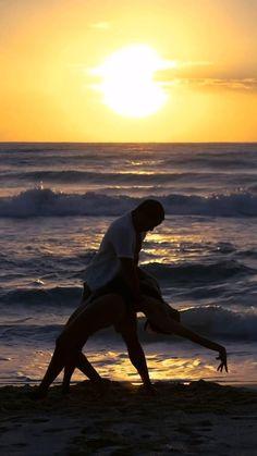"Sunset salsa dancing on the beaches of Mexico. Danced to ""Yo No Se Mañana"" by Takeshi Young & Alyssa Aguilar. Salsa Dance Video, Salsa Dancing, Dance Photos, Dance Videos, Weeding, Videography, Beaches, Random Stuff, Mexico"