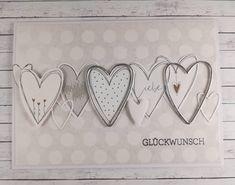 Glückwünsche💗  #alexandrarenke #handmadecards #cardsofinstagram #cards #hochzeitskarten #kartenbasteln #karten #handmade… Card Wedding