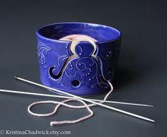 Yarn Bowl Blue Purple  Vogue Knitting LIVE by KristinaChadwick, $40.00