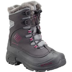 Columbia Bugaboot Plus III Omni-Heat Boot Girls  Shale Deep Blush 6.0  Columbia eab197c671