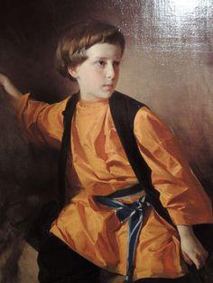 Boy in orange shirt by I.Makarov (1890s)
