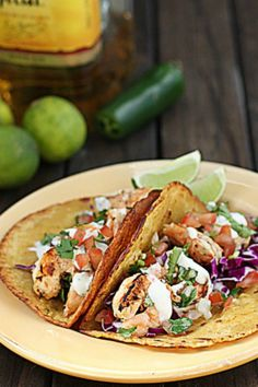 Grilled Tequila Lime Shrimp Tacos w/Chipotle Lime Mayo Recipe  - The Hopeless Housewife®